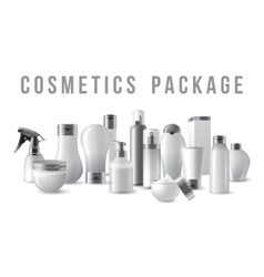 Cosmetics packages border vector