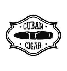Cuban nicotine cigar logo simple style vector