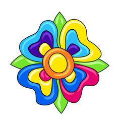 Decorative ornamental flower mexican ceramic cute vector