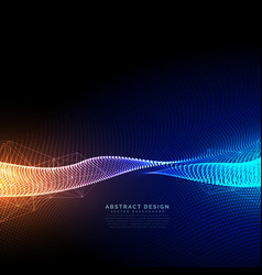 Digital particles technology background with vector