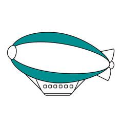 dirigible icon design vector image