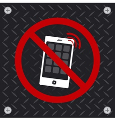Do not use a mobile phone vector