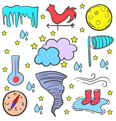 Doodle of weather style art vector