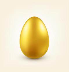 Easter golden egg traditional spring holidays in vector