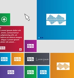 Equalizer icon sign buttons Modern interface vector
