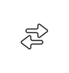 Exchange arrow icon isolated perfect pixel vector