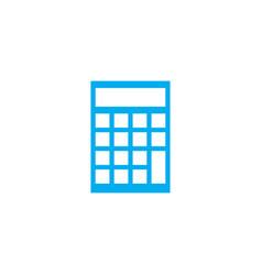 financial calculator linear icon concept vector image