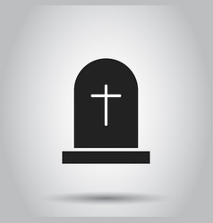 halloween grave icon on isolated background vector image
