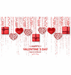 Happy valentine day background with shiny and vector
