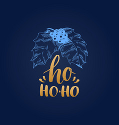 ho ho ho lettering on white background vector image