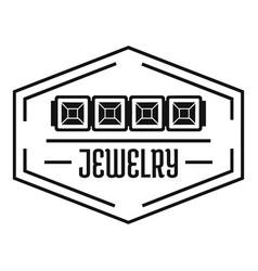 Jewelry logo simple black style vector