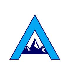 letter a mountains logo icon vector image