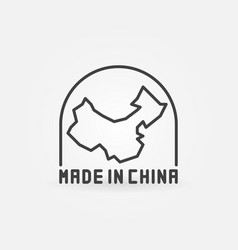 Made in china with map icon vector