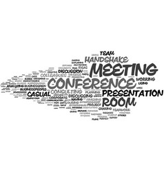 Meeting word cloud concept vector