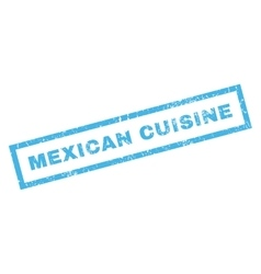 Mexican Cuisine Rubber Stamp vector