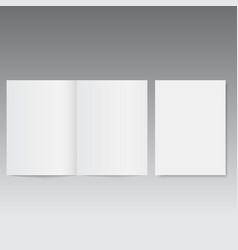 mockup opened magazine or brochure vector image