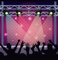 Music concert stage vector