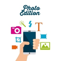 photo edition design vector image