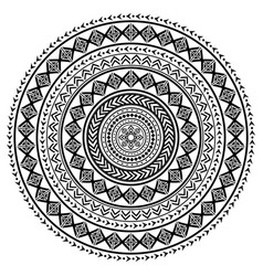 Polynesian tattoo style mandala pattern vector