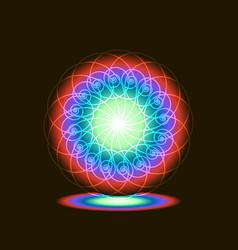 Portal light spiral rainbow on a black background vector