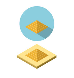 Pyramid icon in isometric style vector