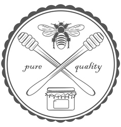 Quality honey vector