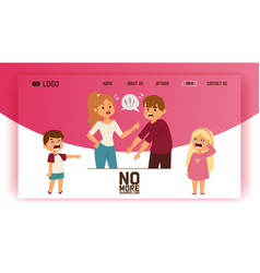 Quarrel web-page people man woman in family vector