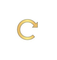 Rotation Arrow computer symbol vector image