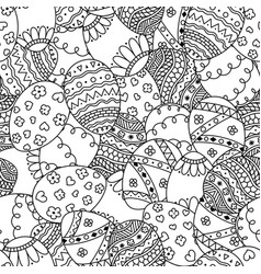 seamless simple pattern with doodle easter eggs vector image