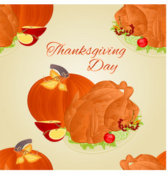 Seamless texture thanksgiving day celebratory vector
