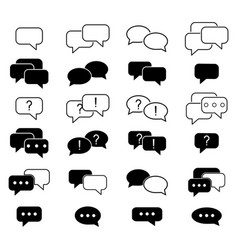 Set of the sms message contact icons info vector