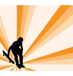 Skateboard with background - vector