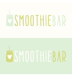 Smoothie bar logotypes vector image