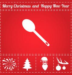 spoon icon vector image