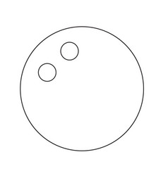Squash ball icon design vector