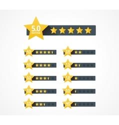 Stars rating set vector