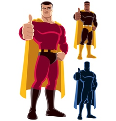 Superhero Approving vector