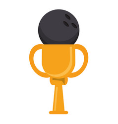 Trophy bowling ball winner vector