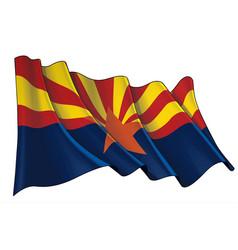 Waving flag state arizona vector