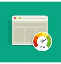 Website speed loading time icon web vector