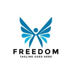 Wing logo design freedom logo idea vector
