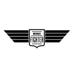 wings fighter logo simple style vector image