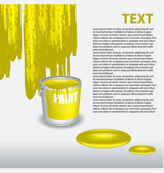 yellow paint dripping on the wall editable vector image
