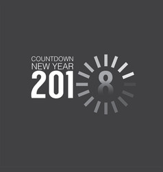 2018 countdown loading vector image