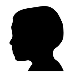 Boy head silhouette vector