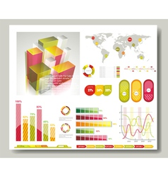 Map and Graphs vector image
