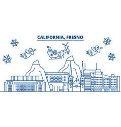 usa arizona fresno winter city skyline merry vector image vector image