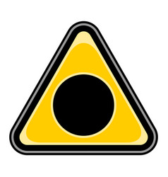black hole sign triangular sticker vector image vector image
