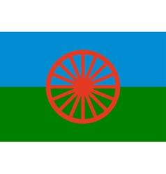gypsy flag - symbol of nomads vector image