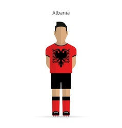 Albania football player Soccer uniform vector image vector image